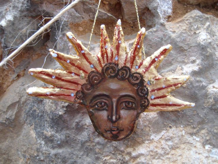 Painting of Ancient Sun God or Helios