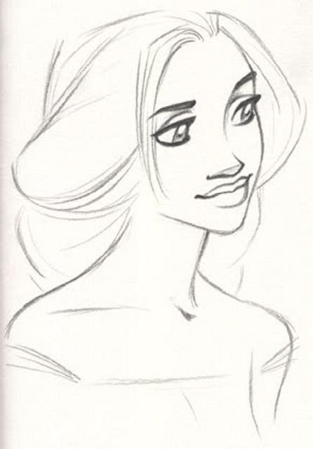 Early Rapunzel Concept Sketch ★ || Art of Walt Disney Animation Studios © - Website | (www.disneyanimation.com) • Please support the artists and studios featured here by buying their artworks in the official online stores (www.disneystore.com) • Find more artists at www.facebook.com/CharacterDesignReferences and www.pinterest.com/characterdesigh || ★