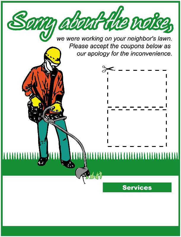 new flyer gopher template lawnsite com lawn care