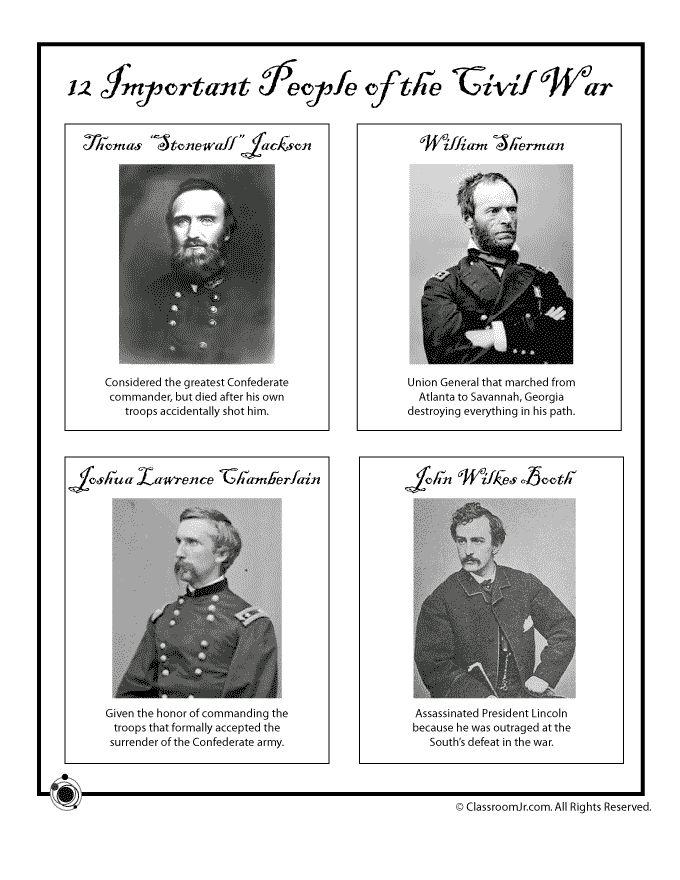 17 Best Images About Civil War Lapbook On Pinterest