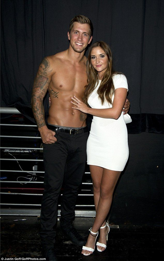 Pregnant Jacqueline Jossa watches Dan Osborne strip with The Dreamboys #dailymail