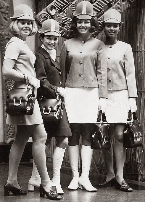 Air New Zealand stewardesses, 1960's.