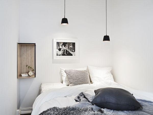 A striking dark and white Swedish space. Stadshem. Styling Emma Hos.