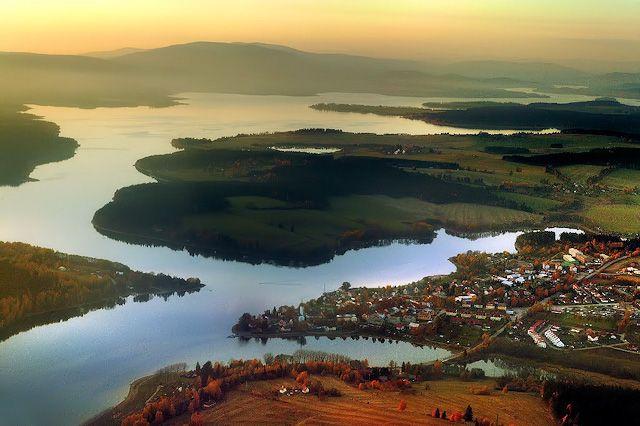 Lipno lake in Šumava region (South Bohemia), Czechia
