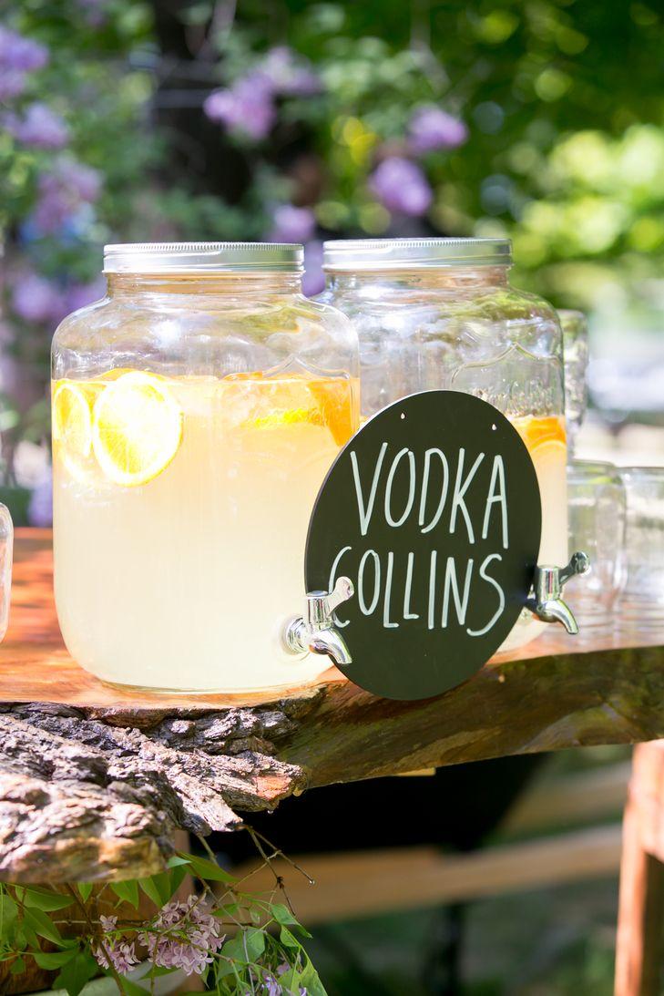 Signature cocktail for cocktail hour Signature cocktails