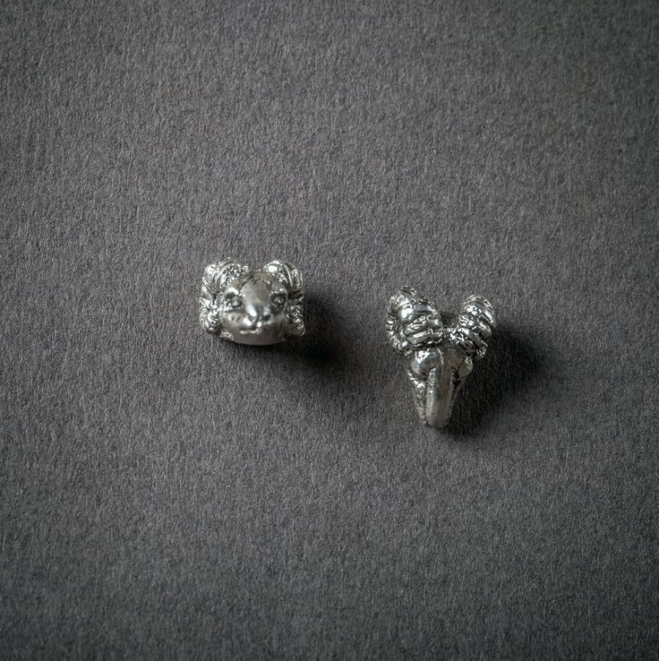 Sterling ram earrings via Seco. Click on the image to see more!