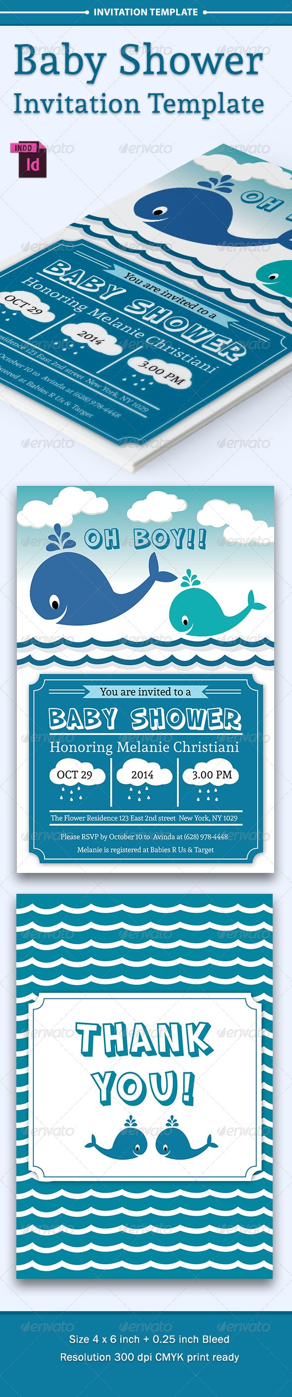 Baby Shower Template - Vol. 6 - Invitations Cards & Invites