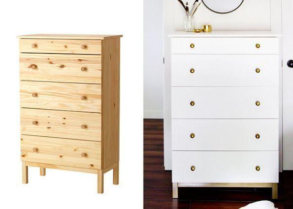 DIY cómoda de madera natural
