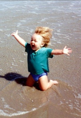 Joy • photo Kathy Rymer on Coastal Living......I wish I felt like this everyday!!!!!  The joys of being young!