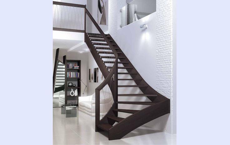 Scale a giorno, scale per interni, scale di legno massiccio, scale a ...
