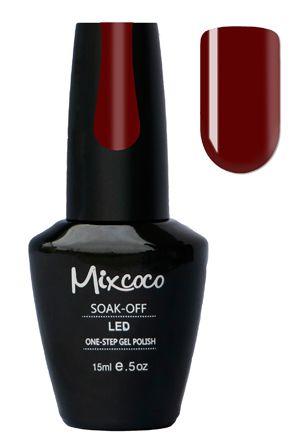 Mixcoco One-Step Gellak # 12 Bordeaux - verkrijgbaar viawww.beautymilleni...- prachtige bordeaux rode gelpolish kleur! Mixcoco One Step Gellak vereist geen base of top coat! Een prachtige#gelmanicurebinnen 5 minuten! Zeer geschikt voor beginners! 2 weken prachtig gelakte#nagels! Prijs: €16,95  #nails#Mixcoco#gellak#gelnails#gelnagels#gelpolish#gellac#gellish#gelish#soakoff
