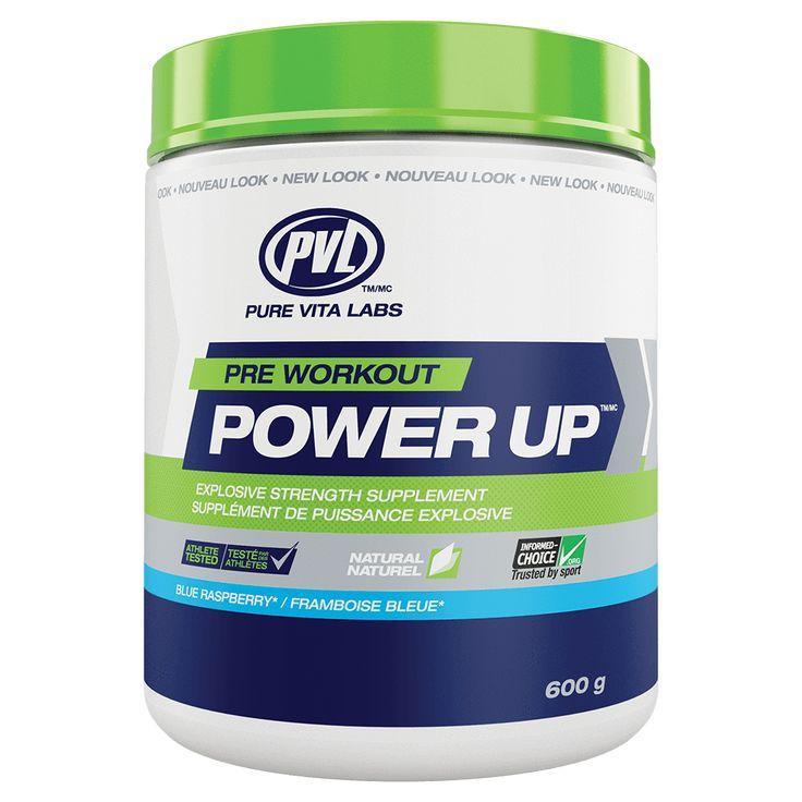 PVL Power Up PreWorkout All Natural Energy Supplement