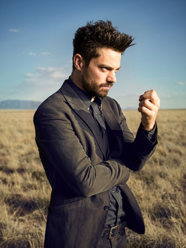 So Dominic Cooper as Jesse Custer has to deal with the congregation who are very much like the folk we see in that original bar scene from issue 1.
