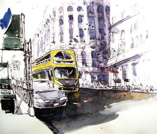 Buenos Aires - Sketch by Norberto Dorantes