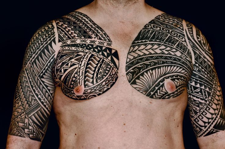 17 ideas about tribal chest tattoos on pinterest stone for Leo zulueta tattoos