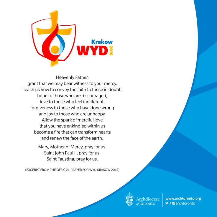 We pray for young people. May they receive the grace to reap abundant fruits from their #Krakow2016 experience! #WYD #worldyouthday