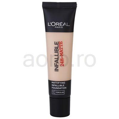 L'Oréal Paris Infallible machiaj cu efect matifiant | aoro.ro