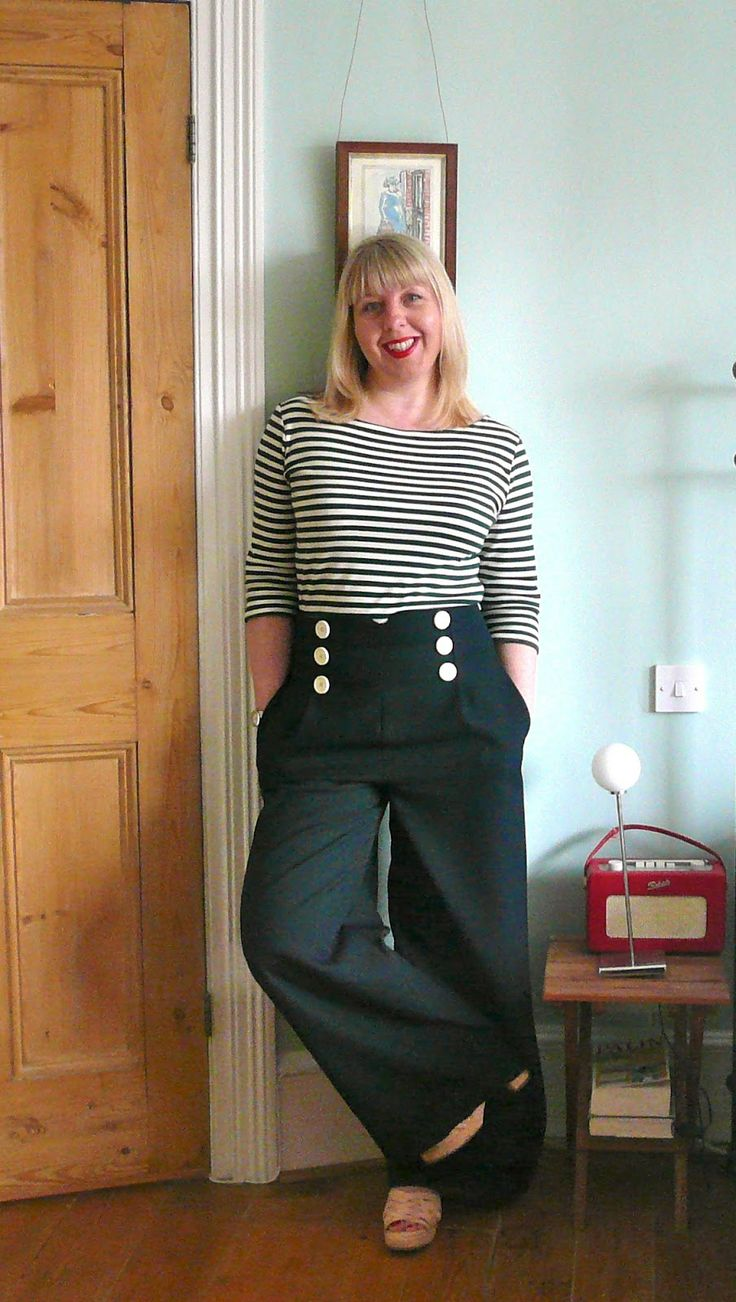Sailor pants and stripe top from handmade jane my handmade wardrobe