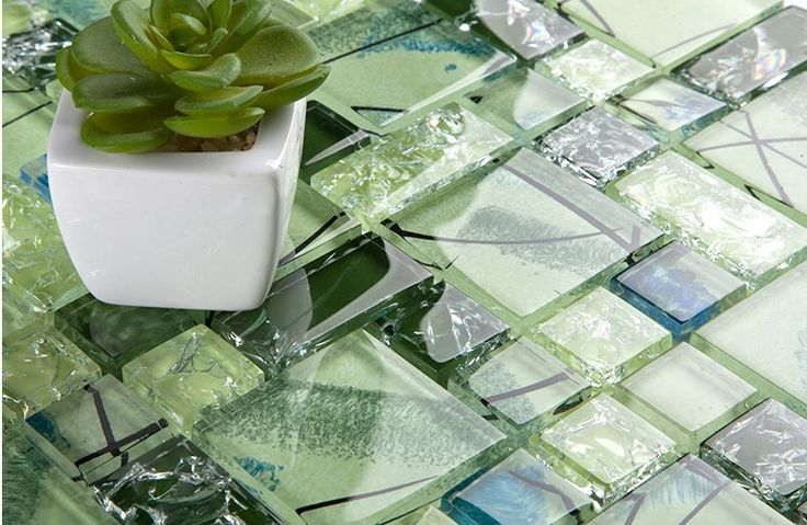 ExoTiles - LSBV Green Ice Crackle Glass Mosaic Tiles, $349.00 (http://www.exotiles.com.au/lsbv-green-ice-crackle-glass-mosaic-tiles/)