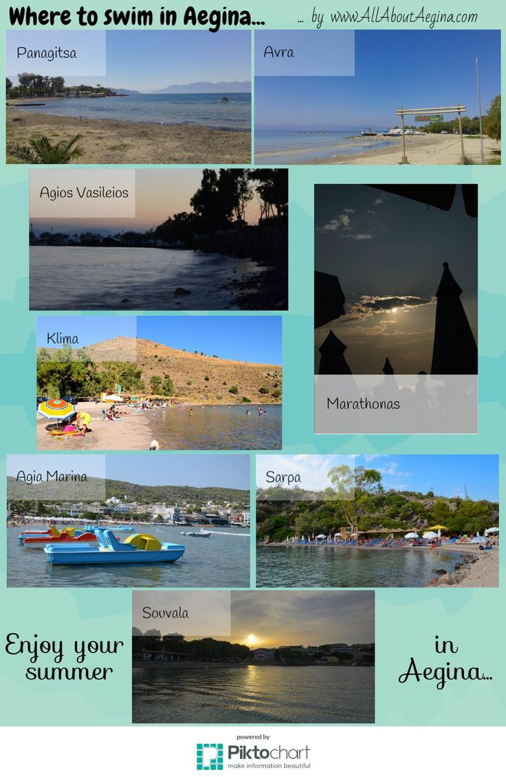 Infographics: Where to swim in Aegina