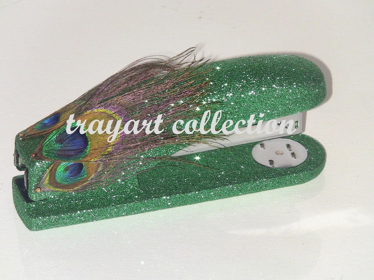 Stapler Full Size Emerald Green Pea Feathers Basic Office Clroom Or Houseware Supplies Trayart