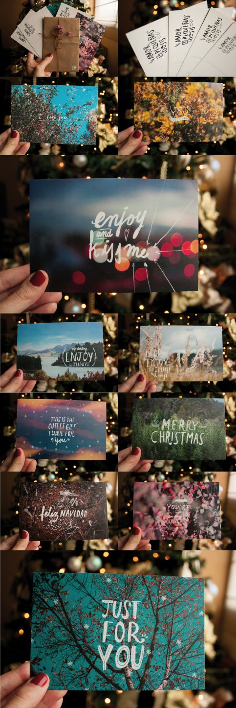 Christmas cards/ Postales navideñas. #lasoto