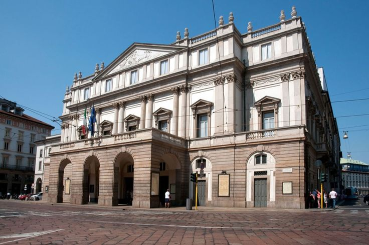 Ла Скала, Милан, Италия. The Teatro alla Scala in Milan, Italy