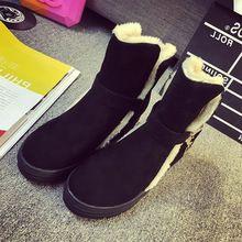 Ayakkabı Kadın Çizmeler Yeni Geldi Su Geçirmez Kış Kadın Sonbahar 2016 seksi Kadın Ayakkabı Bootie Ayak Bileği Siyah Büyük Boyutu Için Bot gerçek(China (Mainland))
