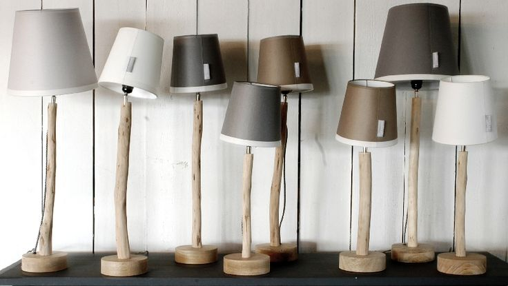 Goround interior, Winter collection 2016, Wooden tree-trunk lamps