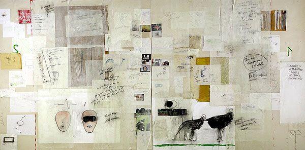 Fabrice Hyber, Peinture homéopathique n° 10 (Guerre désirée)