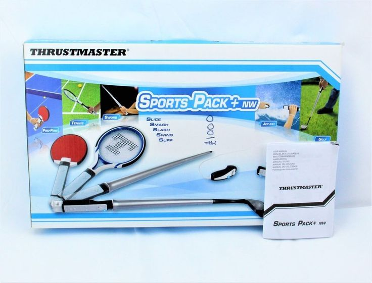 THRUSTMASTER SPORTS GAMES PACK +NW NINTENDO WII MOTION PLUS 7 ACCESSORIES PLAY
