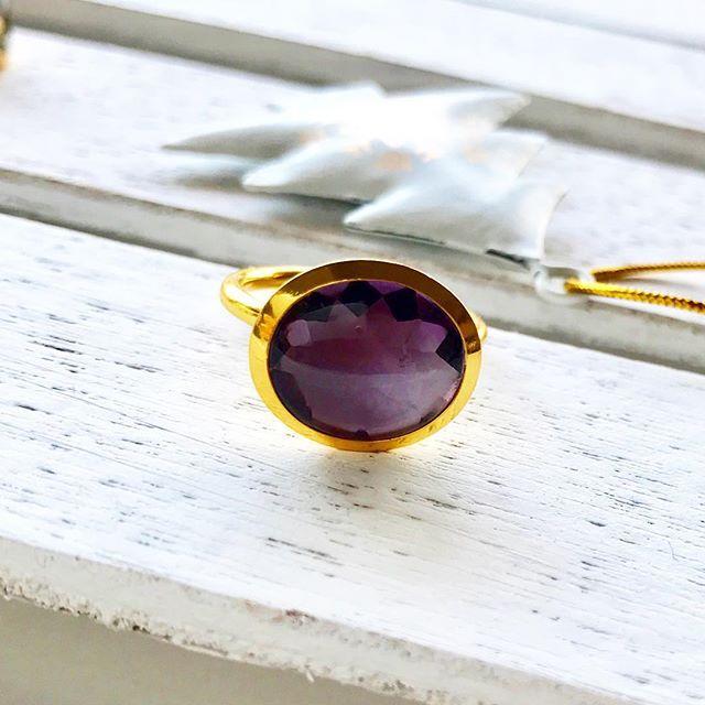 大人の香、 アメジスト、好き♡  #jewelry #gemstone #amethyst  #purple  #2月の誕生石 #大人かわいい #リング #シンプルコーデ に #深いパープル #魅力的な #愛の石 #ラミカ #missorchidea