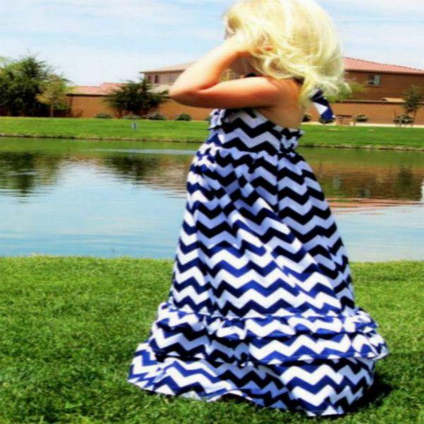 Лолита девушка принцесса длинные платья макси, Очаровательны хлопок шеврон узором летом пляж платье для детей девочки 2014 Ач D0022
