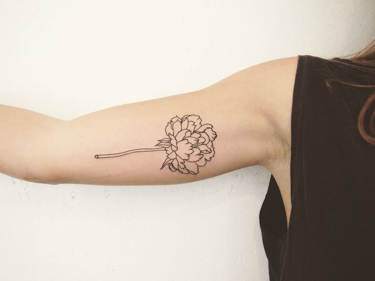 """Simple Peony Outline - Jess Chen - Tattoo People Toronto"" by __jesschen__ in tattoos - Imgur"