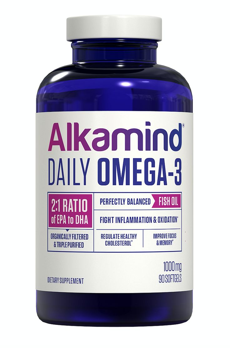 Alkamind Daily Omega-3 is the FIRST fish oil to have the IDEAL 2:1 ratio of EPA to DHA (the most powerful ratio to fight inflammation and improve brain function) in a highly concentrated form. We used a process called Molecular Distillation which TRIPLE ORGANICALLY FILTERS our fish oil, highly concentrating it which means you TAKES LESS to GET MORE.   Our cutting edge process removes EVERY heavy metal and over 400 contaminants.