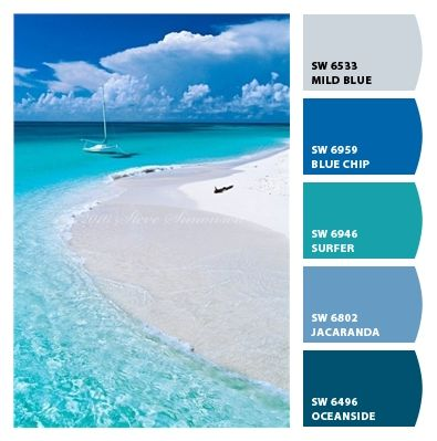 Best Paint Colors From Chip It By With Caribbean Blue Color