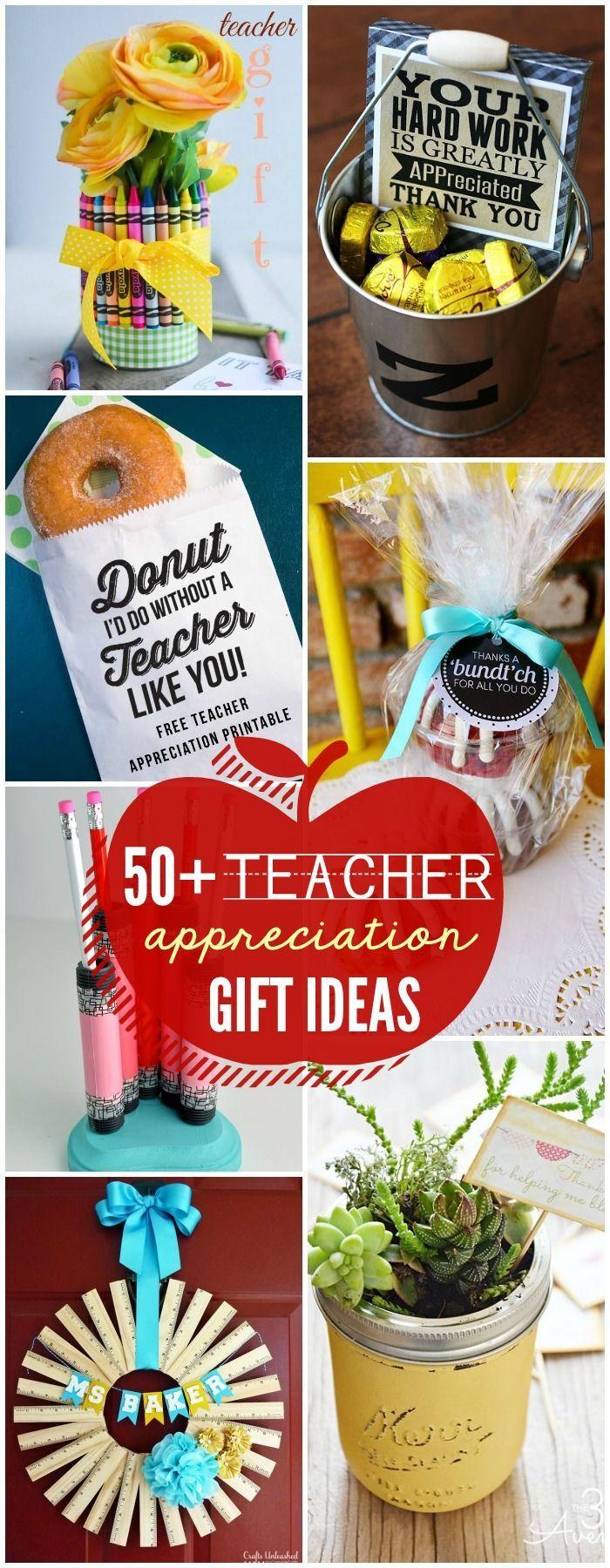 50+ Must-See Teacher Appreciate Gift Ideas on { lilluna.com }