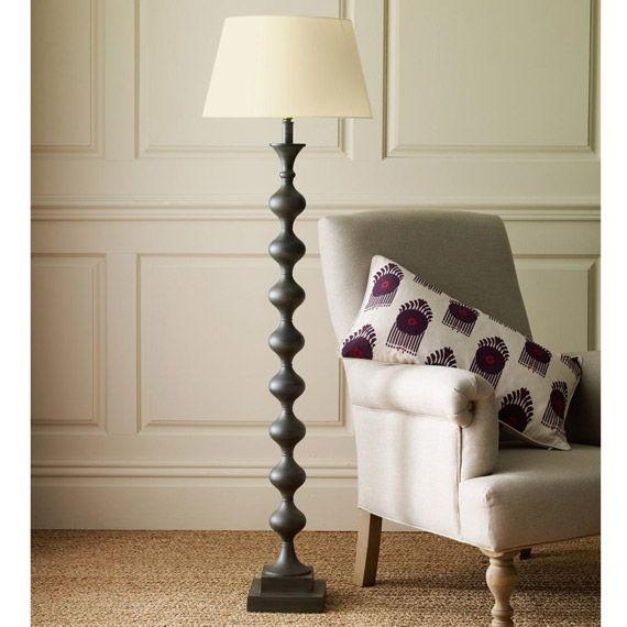 Fortuna Metal Floor Lamp - Grey