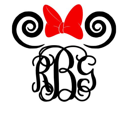 Minnie Mouse Vine Monogram by GracieLynDesigns on Etsy, $5.00