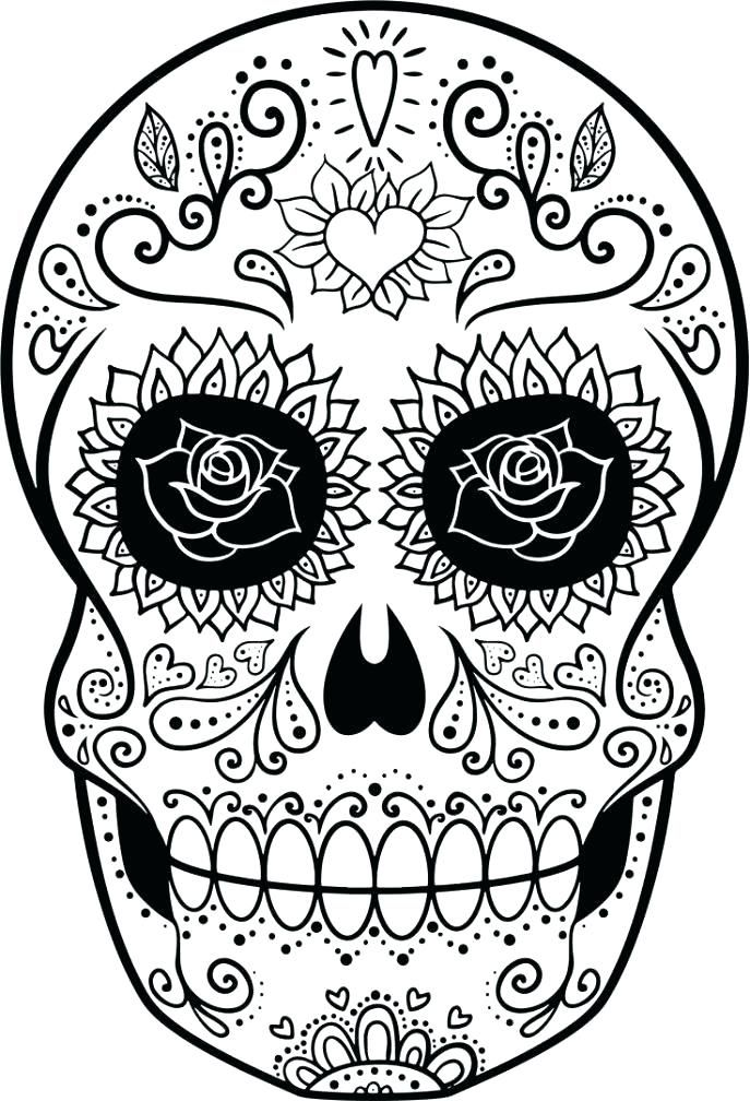 - Sugar Skull Coloring Pages Pdf Free Download Sugar Skull Coloring Skull  Coloring Pages, Coloring Pages, Sugar Skull Drawing