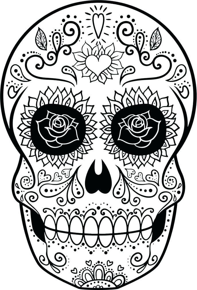 Sugar Skull Coloring Pages Pdf Free Download Sugar Skull Coloring Skull Coloring Pages Coloring Pages Sugar Skull Drawing