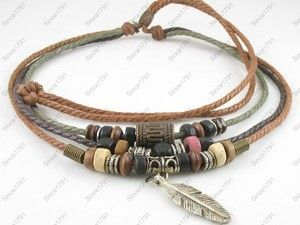 images of hemp jewelry    Fashion-Jewelry-Adjustable-Surfer-Tribal-Hemp-Necklace-Choker-Men ...