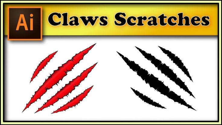 Claws Scratches, animal slash marks - Adobe Illustrator tutorial