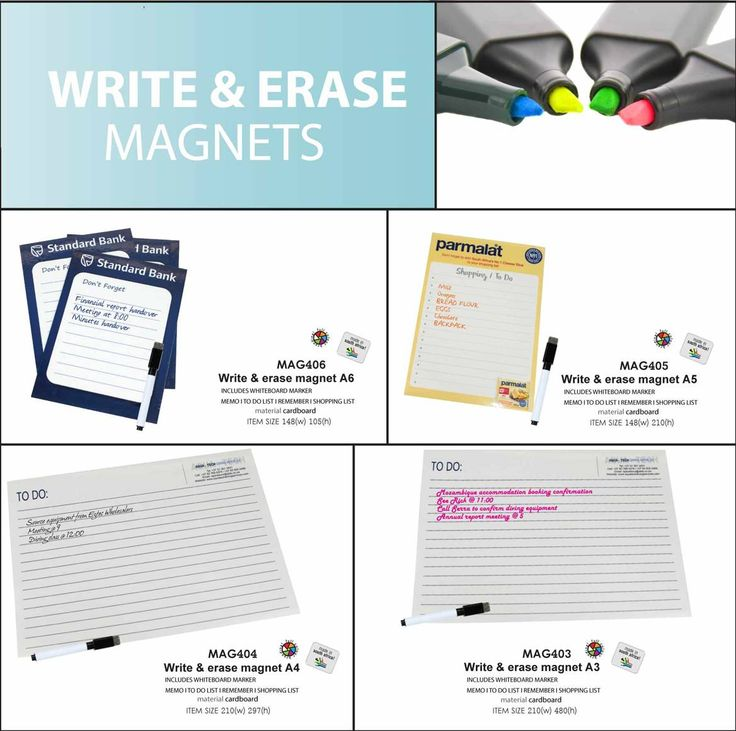 Write and Erase magnets - great as an corportate gift