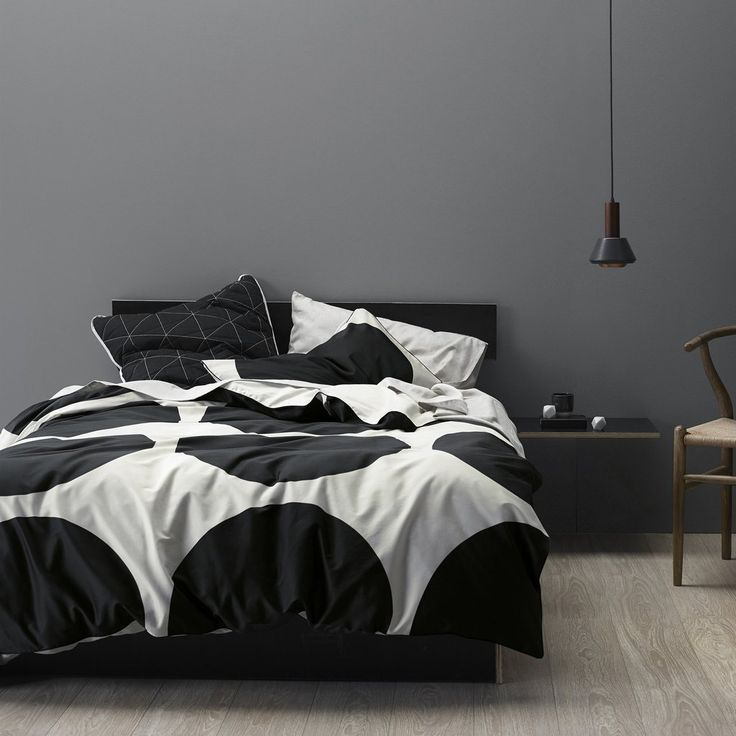 Aura Big Dots in Black Quilt Cover King Single Set