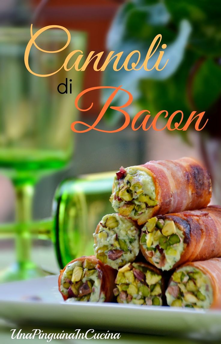 Una Pinguina in Cucina: Finger Food... Cannoli di bacon croccante