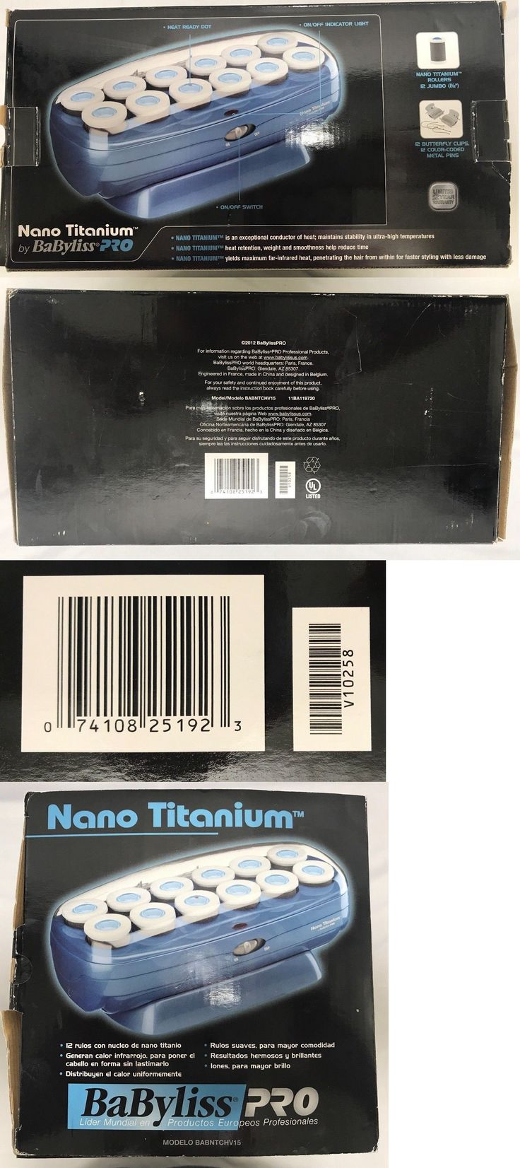 Rollers and Curlers: Nib! Babyliss Nano Titanium 12 Hair Roller Set (9757-4Aj) -> BUY IT NOW ONLY: $44.49 on eBay!