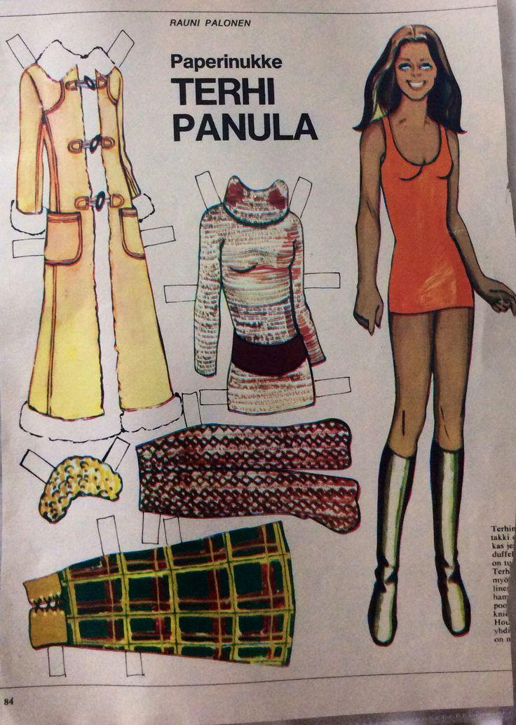 Paper doll Terhi Panula 1970's