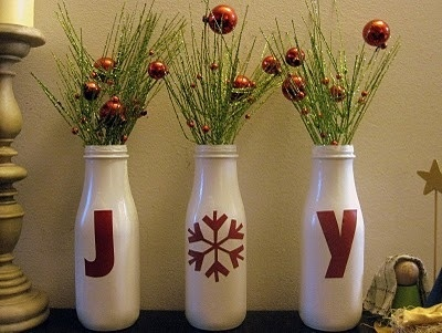 Use Old Starbucks Bottles..like the idea, maybe reverse the colors.