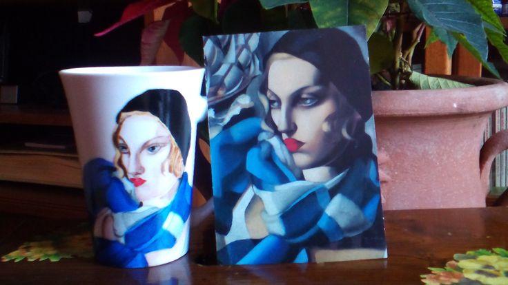 Da Tamara De Lempicka: la sciarpa blu
